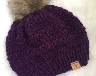The Aubrey Beanie Knitting Pattern // slouchy Hat// PDF Pattern