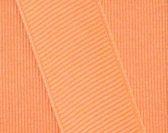Apricot Orange Grosgrain Ribbon    (05-##-S-266)