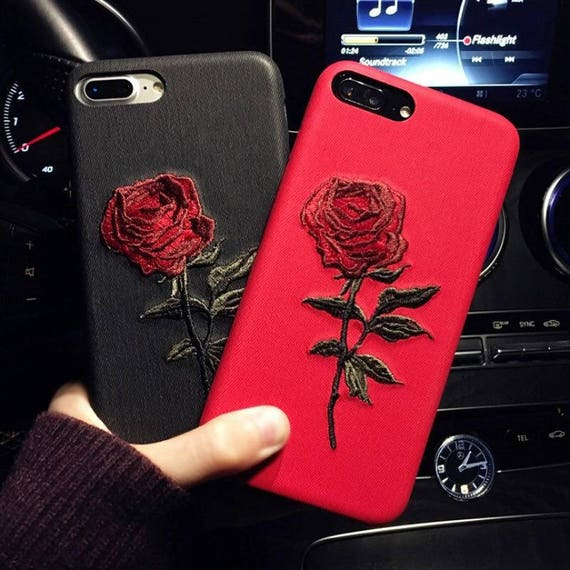 phone case iphone 8 plus black and red