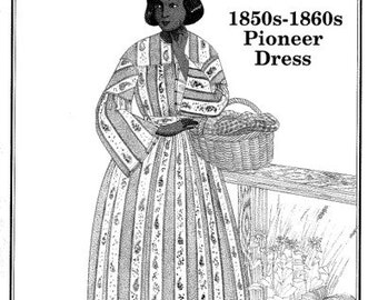 PP803 - Past Patterns #803, Late 1840s-Early 1850s Round Dress Sewing Pattern