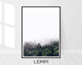 Forest Print, Landscape Print, Forest Wall Art, Forest Photography, Nature Print, Nature Decor, Decor Print, Art Modern, Instant Download