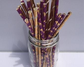 Metallic Staws, Feather Straw, Elephant Straw, Party, Shower, Wedding, Crafting, Boho, Tribal, Safari, Jungle, Zoo, Elephant