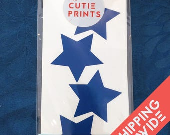 Stars Wall Decals Decor Stickers Nursery Baby Girl Boy Sky Pattern Modern & Scandinavian - Sets of 25