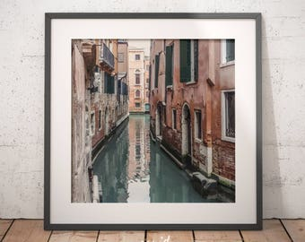 Venice print, decoration, digital download, printable poster, Venice canal, modern art, large printable poster, home wall decor, Italy print