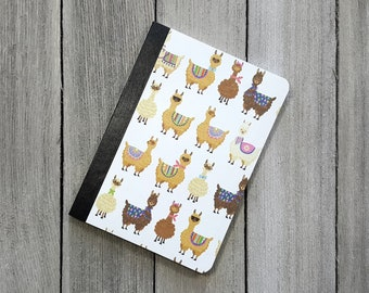 Mini Llama Notebook, Llama Notebook, Altered Composition Notebook, Diary, Writing Journal, Small Notepad, Journal, Pocket Notebook