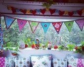 Bright colourful bunting ...