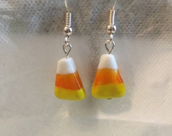 Candy Corn Earrings (silver)