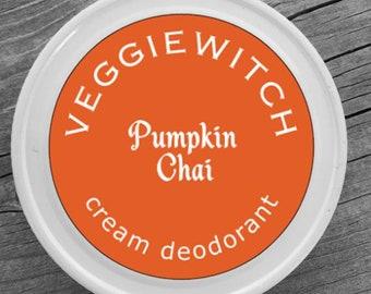 Pumpkin Chai - Veggiewitch Cream Deodorant - All Natural - Vegan & Organic