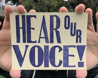 Hear Our Voice! Postcards (5 pk.)