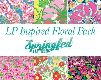 LP Inspired FLORAL Pattern Craft Vinyl Project Pack Choose Adhesive Vinyl or HTV Sheets