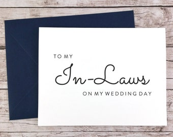 To My In-Laws On My Wedding Day Card, Wedding Card, Thank You Card for In-Laws, Future In-Laws Card, In-Law Thank You Card - (FPS0016)