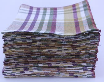 Everyday Cloth Table Napkins (set of 12)  in Warm Fall Colors