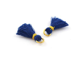 Small PomPoms 2 set of 2 cm / dark blue PO115 FM
