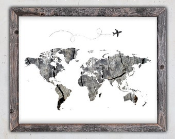 Vintage world map printable map print instant digital world map print world map download poster printable map instant download print gumiabroncs Gallery