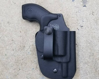 SALE Kydex Smith and Wesson J Frame Revolver (442/642/638) Inside the Waistband Holster (10 colors available)