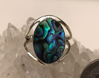 Abalone Ring Size 8