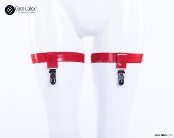 Latex Thigh Garters