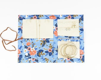Small Jewelry Case - Birch in Periwinkle - Rifle Paper Co.