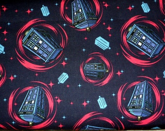 Dr Who Fabric Call Box Fabric Doctor Who Phone Booth Novelty Material Cotton Fabric Craft Supply Sewing Fabric Quilting Fabric
