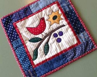 Red Bird of Happiness wall-hanging