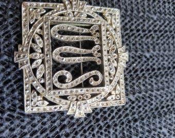Vintage Marcasite brooch set 1930-40s  VVS art deco