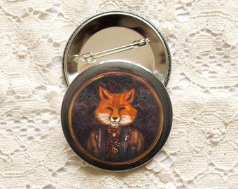 Badges Set - Button - Brooch - animals - anthropomorphic - Fox - Lord Fox