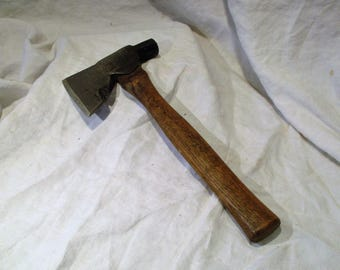 Hatchet or Ax, Hand Made and Hand Forged Antique Axe, Early Stanley Tool