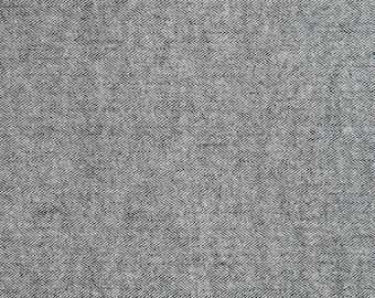 Kaufman Shetland Grey Cream Herringbone Gray SRKF-13936-12 Flannel Fabric BTY