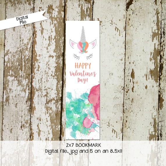 unicorn valentine card | preschool valentines | valentine cards kids | valentine card ideas | school valentine's day | Bookmark | Katiedid