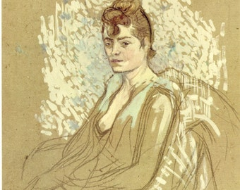 Toulouse-Lautrec - Seated Woman to Frame or to use in Paper Arts, Collage, Scrapbooking and MORE PSS 2173