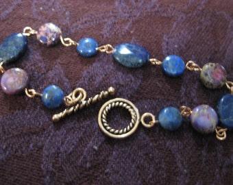 The Copper Line Lapis Bracelet