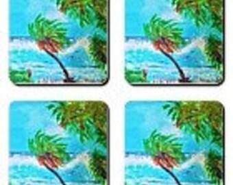 Item # 18 Swaying Palm Coasters (3.5 x 3.5)