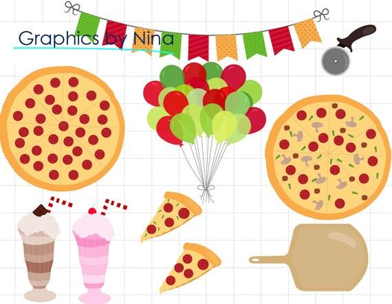 instant dowload pizza party clipart scrapbook for personal and rh etsystudio com scrapbooking clip art free scrapbooking clipart