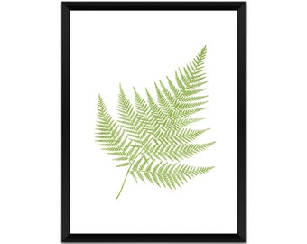 Botanical wall art, fern, leaves, picture, print, illustration, poster,wall decor, A4, A3