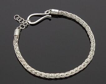 Handmade Two-Way Single Loop in Loop Bracelet
