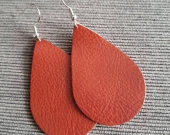 Burnt Orange Teardrop Earring