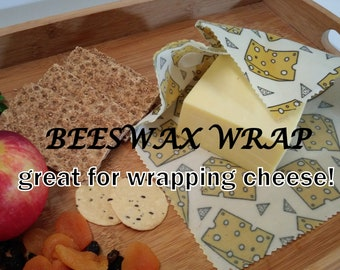 Beeswax Wraps - 2pack size S+M choose your design, Reusable food wraps