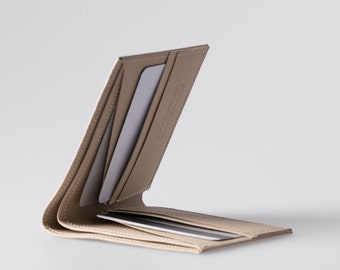 Minimalist Super-Thin Washable Paper Bi-Fold Wallet in Mojave Sand / Vegan Wallet / Thin Bifold / Paper Wallet / Mens Wallet