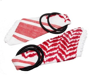 """Handmade and Hand Stitched - 100% Cotton - Keffiyeh and Agal Magnet - (1.5"""" x 4"""" x 0.2"""") - Sold as a Pair"""
