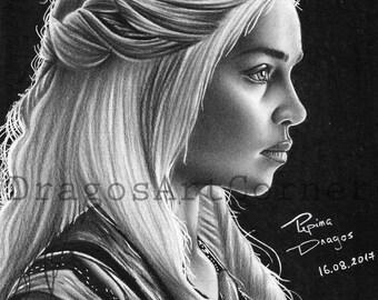 Daenerys Targaryen - Fan art for sale