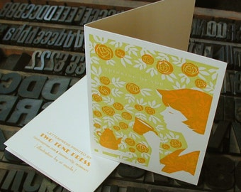 Thinking of You letterpress card