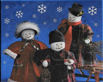 """Simplicity 9265 Snowmen 18"""" Snow Family & Clothes Christmas Sewing Pattern UNCUT"""