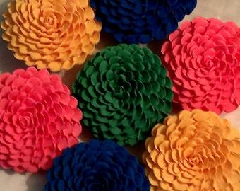 1 beautiful  paper flower, baby shower, wedding, love, pink green, blue,