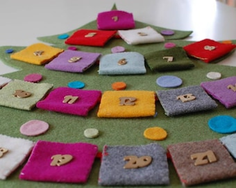ADVENT CALENDAR Christmas Tradition- Felt Advent Calendar-Choose your Color Numbers- Fun Decorative Meaningful Handmade Quality