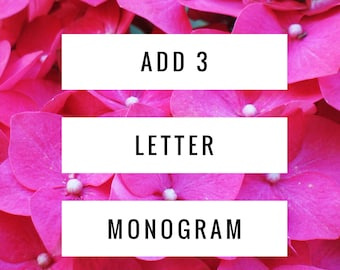 Add a Three Letter Monogram or Wedding Date to Any Dress