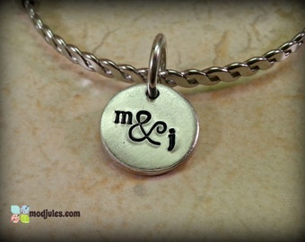 Personalized Custom Hand Stamped Charm Round Disc, Add-on Charm, Initials, Monogram, Name, Date, Add-on Jewelry