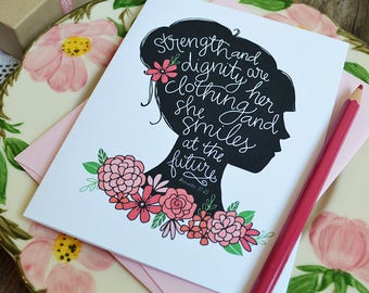 Proves 31 Woman, Mother's Day Card Floral, Mama, Woman of God, Mom, Pink, Pretty, Stationery, Hand Drawn, Illustration, Flowers, Lady