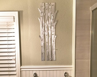 Aspen Trees Metal Wall Art Aspen Tree Home Decor Hand cut Aluminum artwork for your kitchen and bathroom. Hand made artwork. Gift for her & Metal wall art | Etsy