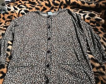 Vintage leopard print top