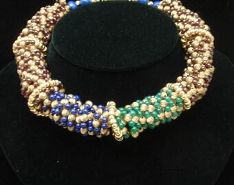 Multi-Colored Torsade Choker Necklace
